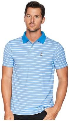 Psycho Bunny Performance Golf Striped Polo Men's Short Sleeve Pullover