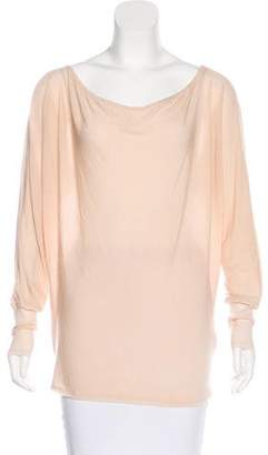 Alice + Olivia Stretch Knit Sheer Top