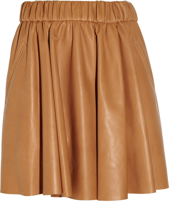 Acne Romantic leather mini skirt