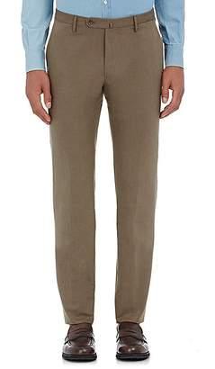 Incotex Men's M-Body Modern-Fit Cotton Trousers