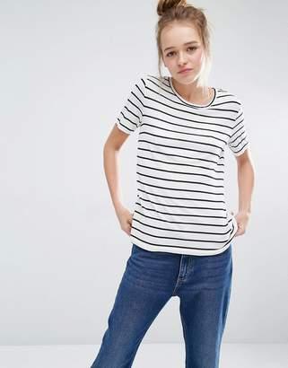 Monki Stripe Scoop Neck T-Shirt $12.50 thestylecure.com