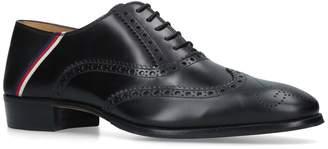 Gucci Plata Web Trim Oxford Shoes