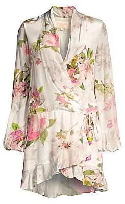 Rococo Sand Women's Floral Long Sleeve Wrap Dress