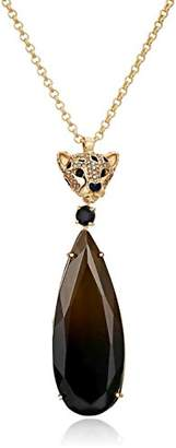Kate Spade cheetah stone pendant necklace