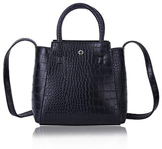 Croco The Lovely Tote Co. Women's Crocodile Pattern Satchel Medium Tote Wing Purse Size