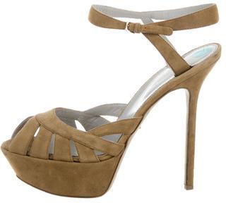 Sergio RossiSergio Rossi Suede Platform Sandals