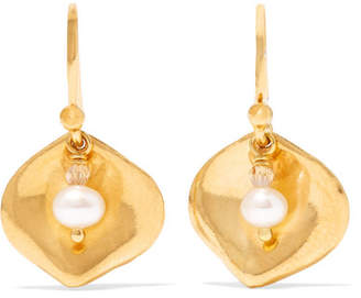 Chan Luu Gold-plated, Pearl And Crystal Earrings
