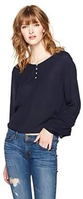 Serene Bohemian Women's Button Lace Top
