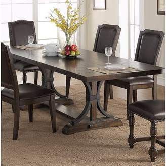 Co Darby Home Volkswagen Pedestal Dining Table with Leaves