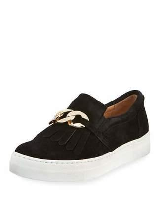 Sesto Meucci Calyce Novel Kiltie Sneakers, Black