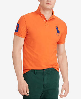 Polo Ralph Lauren Men's Big & Tall Classic Fit Big Pony Mesh Cotton Polo