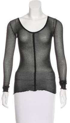 Inhabit Long Sleeve Open Knit Top