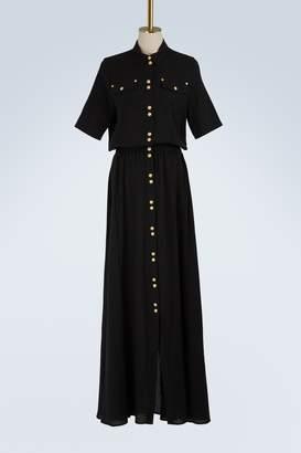 Balmain Buttoned maxi dress