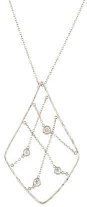 Hearts on Fire 18K Diamond Station Lattice Pendant Necklace