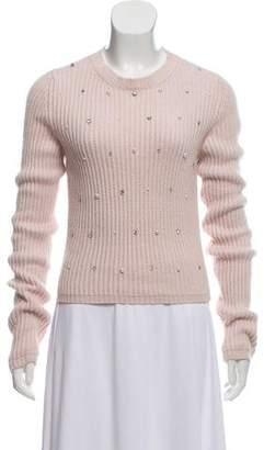 Miu Miu Rib Knit Embellished Sweater
