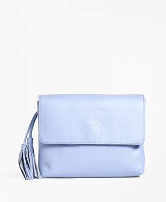 Brooks Brothers Golden Fleece-Embossed Leather Clutch