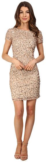 Adrianna PapellAdrianna Papell Short Sleeve Beaded Cocktail Dress