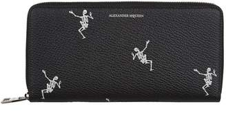 Alexander McQueen Skeleton Zip Travel Wallet