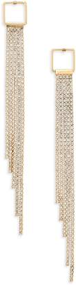 Leith Square Top Crystal Fringe Earrings