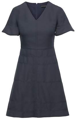 Banana Republic Flutter Sleeve Fit-and-Flare Dress