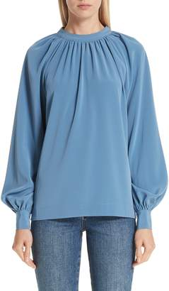 Co Stretch Crepe Tie Back Blouse