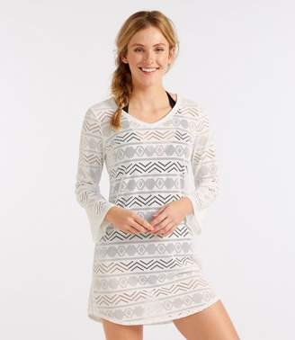 L.L. Bean L.L.Bean Eyelet Caftan Cover-Up, V-Neck