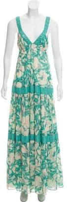 Rebecca Taylor Maxi Floral Print Dress