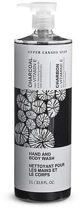 UPPER CANADA SOAP Charcoal and Vitamin E Hand and Body Wash 1L