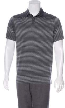 Nike Striped Knit Polo Shirt