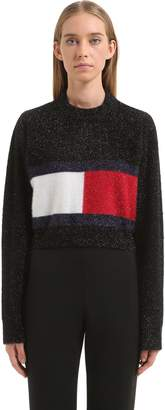 Tommy Hilfiger Tommy Flag Brushed Lurex Knit Sweater