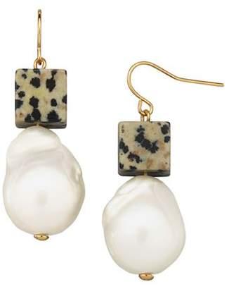 Tory Burch Baroque Cultured Freshwater Pearl & Bead Drop Earrings