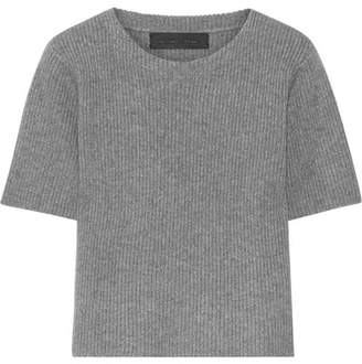 The Elder Statesman Ribbed Cashmere Sweater - Anthracite