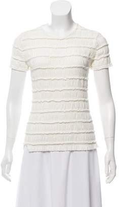 Akris Punto Textured Short Sleeve Top w/ Tags
