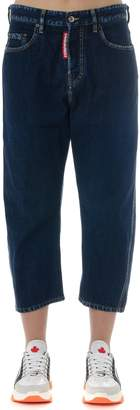 DSQUARED2 Kawaii Blue Denim Cropped Jeans