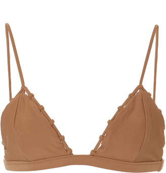 JADE SWIM Chain Reaction Triangle Bikini Top