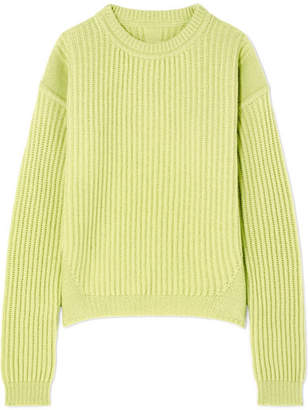 Rick Owens Ribbed Wool Sweater - Chartreuse