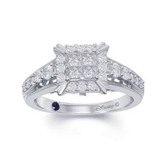 ENCHANTED FINE JEWELRY BY DISNEY Enchanted Disney Fine Jewelry 3/4 C.T. T.W. Diamond 14K White Gold Cinderella Carriage Ring