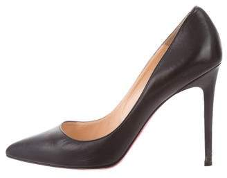 Christian Louboutin Pointed-Toe Leather Pumps