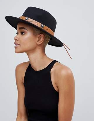 Missguided Western Detail Fedora Hat