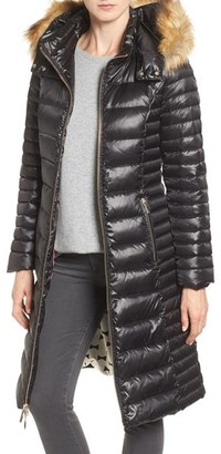 Kate Spade New York Quilted Down Jacket With Faux Fur Trim $388 thestylecure.com