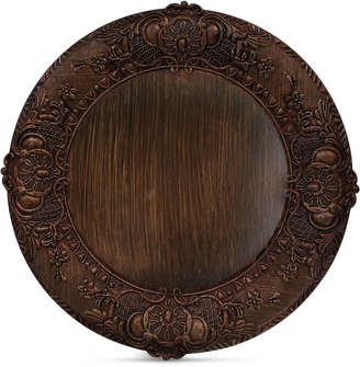 American Atelier Jay Imports Brown Embossed Charger Plate
