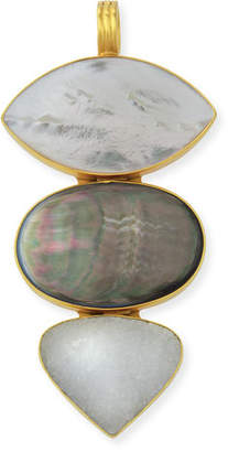 Mother of Pearl Dina Mackney Stacked Large Mother-of-Pearl Enhancer