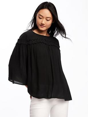 Crinkle-Gauze Swing Blouse for Women $32.94 thestylecure.com