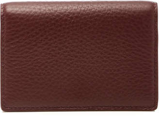 Smythson Burlington Burgundy Leather Fold Card Case