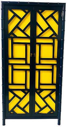 One Kings Lane Vintage Hollywood Regency Faux-Bamboo Armoire - Von Meyer Ltd.