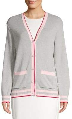 Dorothy Perkins Striped Trim V-Neck Cardigan