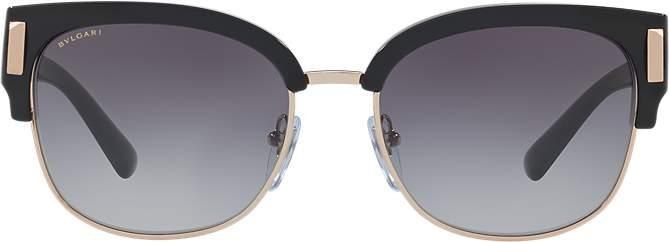 Bvlgari Black Rectangle Sunglasses