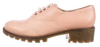 Miista Leather Round-Toe Oxfords