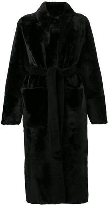 Inès & Marèchal fur robe coat