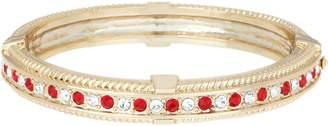 Grace Kelly Collection Simulated Diamond & Ruby Bangle Bracelet